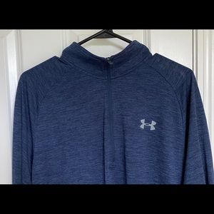 Under Armour Heatgear Lrg 1/2 Zip Mens Long Slv